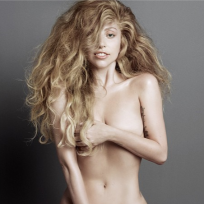 Lady Gaga Nude for V