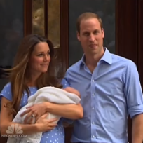 Kate and William With Royal Baby