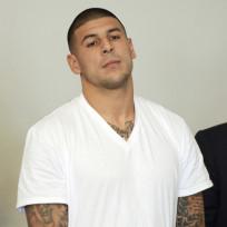 Aaron Hernandez in Courtroom