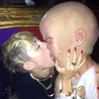 Miley Cyrus Kissing Big Baby