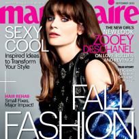Zooey Deschanel Marie Claire Cover