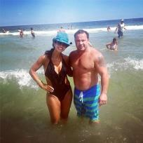 Teresa and Joe Giudice at the Beach