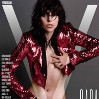 Lady Gaga Topless V Magazine Cover