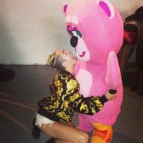 Miley Cyrus and Pink Bear