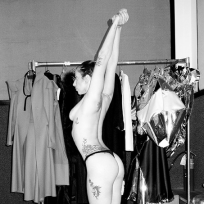 Lady Gaga Topless: VMA Backstage Photo