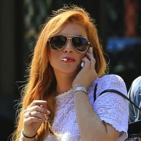 Lindsay Lohan is SMOKING