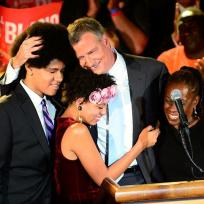 Bill de blasio family