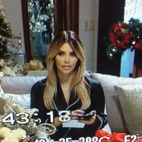 Kim Kardashian Christmas Photo
