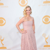 January Jones at the Emmys
