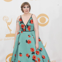 Lena Dunham at the Emmys