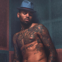 Chris brown shirtless tattoos