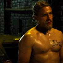 Charlie hunnam no shirt