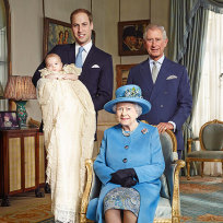 Queen elizabeth prince george prince william and prince charles