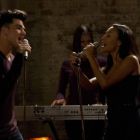 Adam Lambert and Naya Rivera