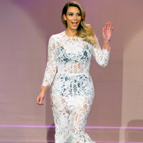 Kim Kardashian See-Through Dress