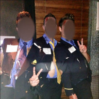 Dressing as the crew of the crashed Asiana Airlines flight is...