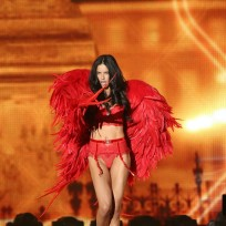 Adriana Lima in Red Lingerie