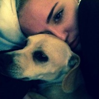 Miley Cyrus and Pet