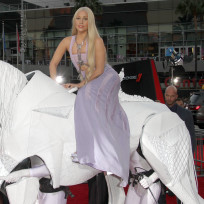 Lady Gaga on a Horse