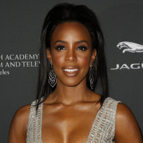 Kelly Rowland Cleavage Dress