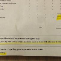 Hotel-survey-response