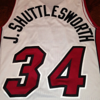 Ray Allen wearing a Jesus Shuttlesworth jersey is...