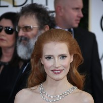 Jessica Chastain at the 2014 Golden Globes