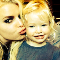 Jessica Simpson with Daughter
