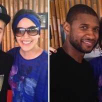 Justin Bieber and Usher in Panama