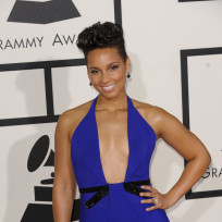 Alicia Keys at 2014 Grammys