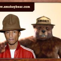 Pharrell and Smokey Bear