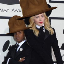 Madonna in pharrells hat