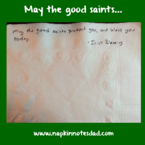 May the Good Saints ...