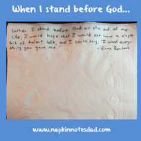 When I Stand Before ...