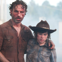 Rick with Carl