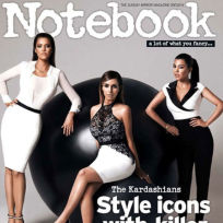 Kim, Khloe and Kourtney Kardashia on Notebook