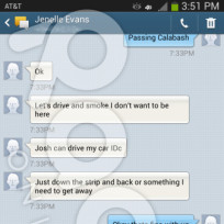 Jenelle Evans Texts About Smoking Weed