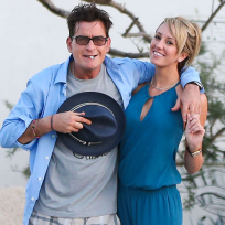 Charlie sheen and brett rossi