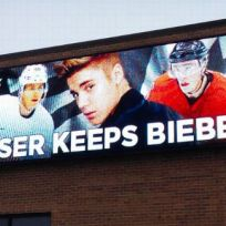 Justin Bieber Hockey Billboard