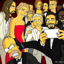 Oscars-selfie-with-homer-simpson
