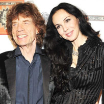 Lwren scott and mick jagger photo