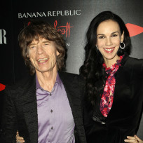 Lwren scott and mick jagger pic