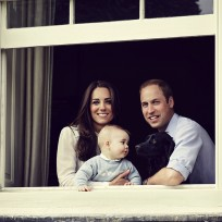 Prince George, Kate Middleton and Prince William Photo