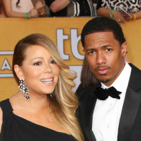 Mariah carey and nick cannon red carpet photo