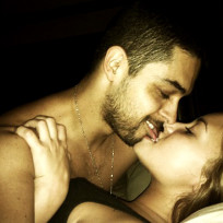 Demi Lovato and Wilmer Valderrama in Bed