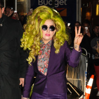 Lady Gaga Green Hair Photo