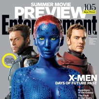 Jennifer lawrence huch jackman michael fassbender photo