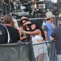 Selena Gomez Takes Selfies at Coachella