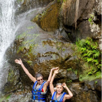 Heather-and-tamra-under-the-waterfall