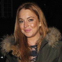 Lindsay Lohan Winter Coat Photo